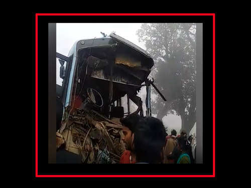 Bus collides with truck in Bihar, 3 dead   City - Times of India Videos