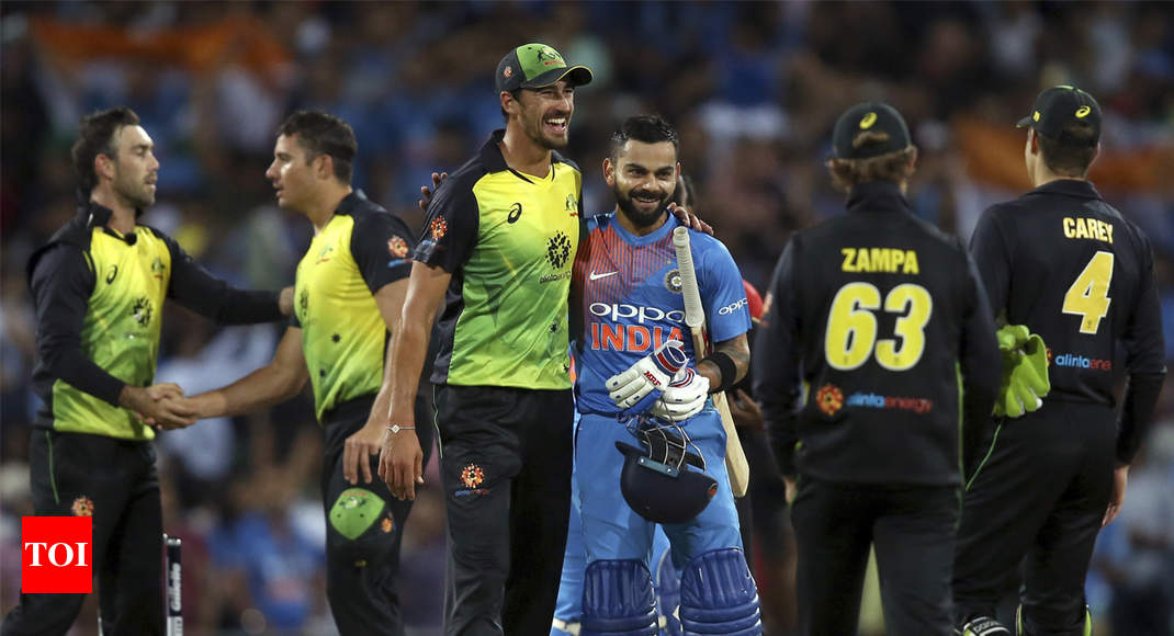 Ind Vs Aus 3rd T20i Highlights Virat Kohli Krunal Pandya Fire India To Series Levelling Win Cricket News Times Of