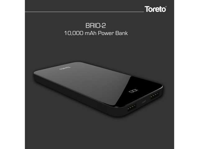 Toreto launches 'Brio 2' power bank with LED display at Rs 2,399