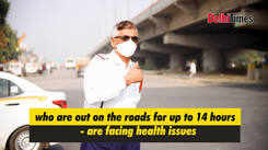 Air pollution is taking a toll on the health of Gurugram's traffic cops