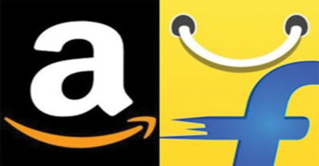 The investment bank now said Amazon and Flipkart Group were neck and neck at an $11.2-billion GMV run rate for FY19.