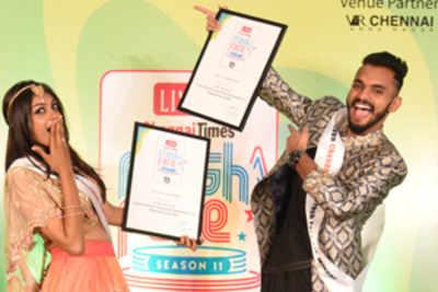 Prithivee Rajesh and Sachin Soni emerge winners of Chennai Times Fresh Face Season 11