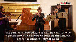German ambassador Dr Martin Ney plays best of west for his Delhi friends