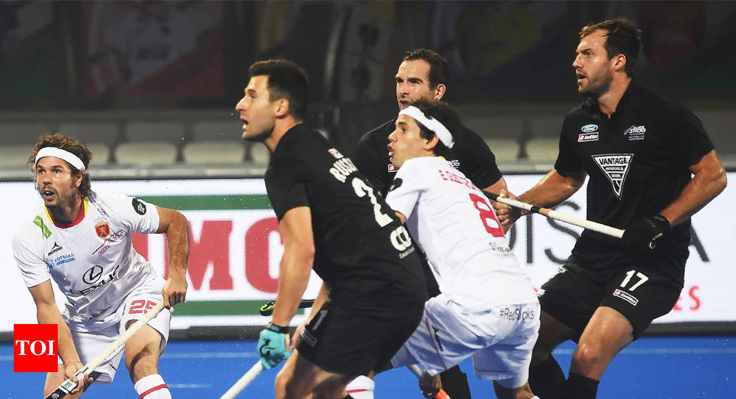 Hockey World Cup: New Zealand hold Spain to 2-2 draw - Times of India