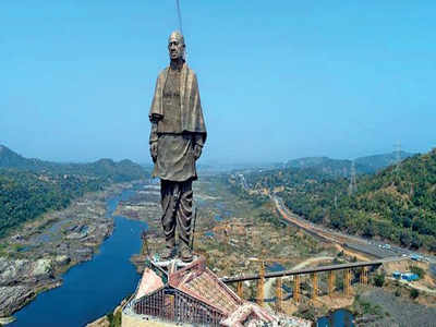 statue of unity: Malfunctioning lift at Statue of Unity