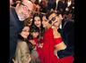Aishwarya Rai Bachchan, Deepika Padukone, Ranveer Singh and Aaradhya pose for a perfect picture at Isha Ambani's sangeet ceremony