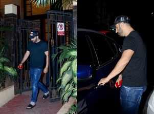 Arjun snapped leaving Malaika's residence