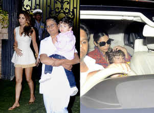 Photos: Taimur and AbRam at a birthday party