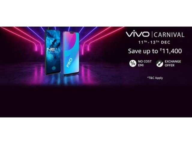 Vivo Carnival on Amazon: Get up to Rs 11,400 off on Vivo V11 Pro, Vivo V9 Pro, Vivo Nex and other phones