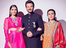 Anil Kapoor looks dashing as he strikes a pose with wife Sunita Kapoor and daughter Sonam Kapoor Ahuja