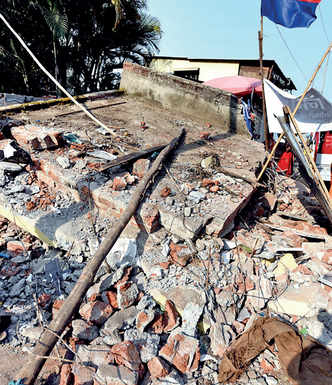 In a coup, PMC and cops lock in locals to raze illegal temples