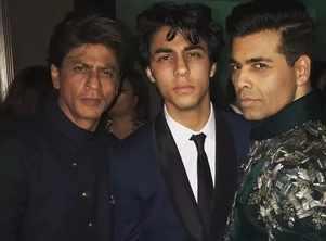 SRK on KJo launching his son Aryan Khan