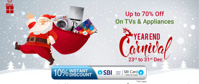Flipkart Year End Carnival: Up to 70% off on TVs and Appliances