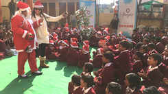 Essence of Christmas came alive for children in Jaipur