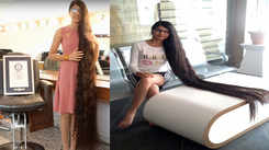 Gujarati teen creates world record with 170.5cm-long hair