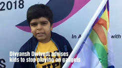 Divyansh Dwivedi advises kids to stop playing on gadgets