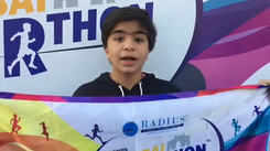 Shivansh Kotia encourages kids to eat healthy