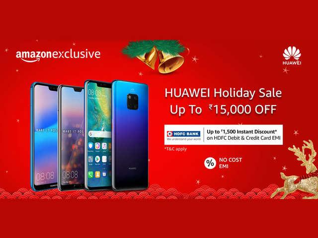 Huawei Holiday Sale on Amazon: Discount on Huawei Nova 3i, Huawei P20 Pro, Huawei P20 Lite and more