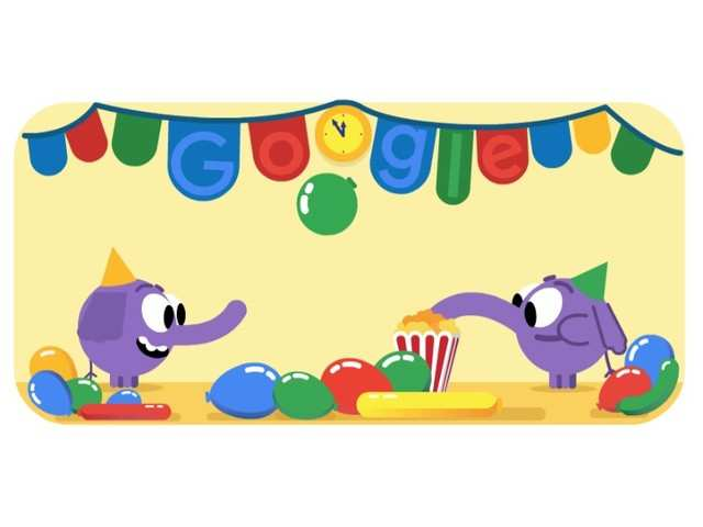 Google creates doodle in celebration of New Year's Eve