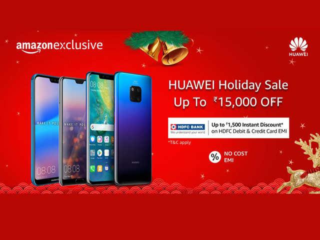 Offers and discounts on Huawei Nova 3i, Huawei P20 Pro, Huawei P20 Lite   and more on Amazon