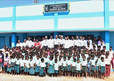 Kudankulam Nuclear Power Plant begins construction of seven school
