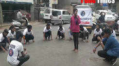 Students from Modern College recently performed a street play  asking people to avoid drink n drive