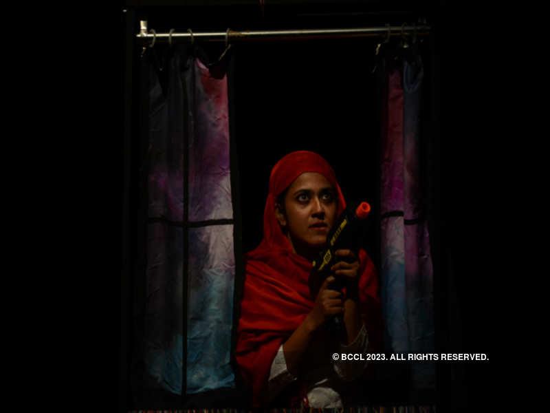 One of the scenes from the play 'Wo Khidki - Jo Andar Ki Taraf Khulti Hai'
