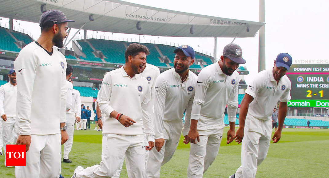 Watch Team India S Victory Dance After Historic Test Series