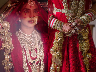 Priyanka's wedding kaleeras depict her love story