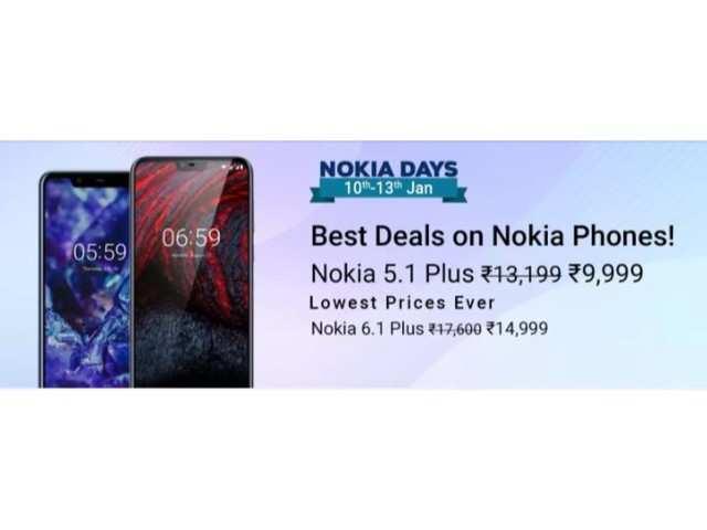 Nokia Days on Flipkart: Offers on Nokia 6.1 Plus and 5.1 Plus