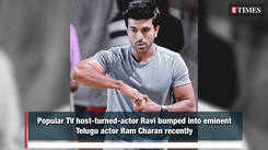TV host Ravi shares his adulation for the actor Ram Charan