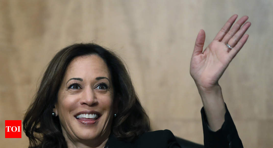 Kamala Harris says inspired by her super hero Indian-American mother - Times of India