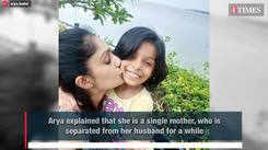 TV show host Arya proudly announces single parenthood
