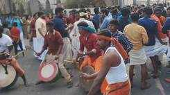 Students dance during Pongal celebrations at PSG college