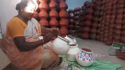 Pongal pot getting painted ahead of Pongal