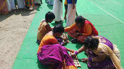 Specially abled children play traditional games  at Pongal celebrations