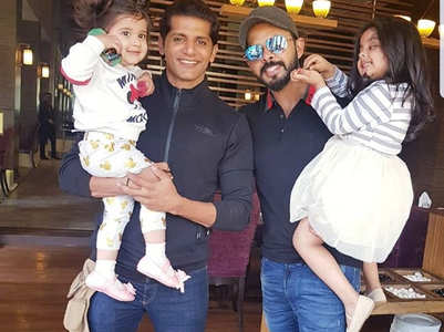 Sreesanth-Karanvir bond with their daughters