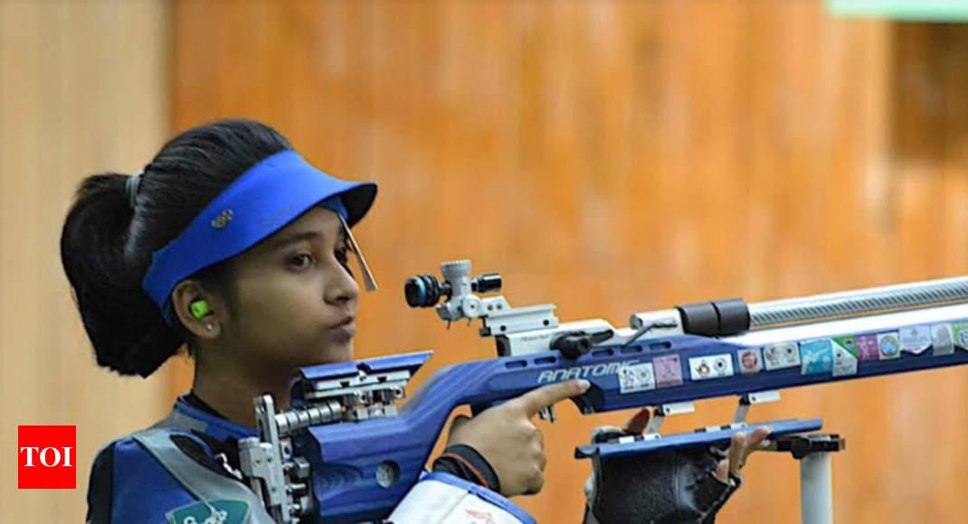 Khelo India: Mehuli Ghosh wins junior 10m air rifle gold - Times of India