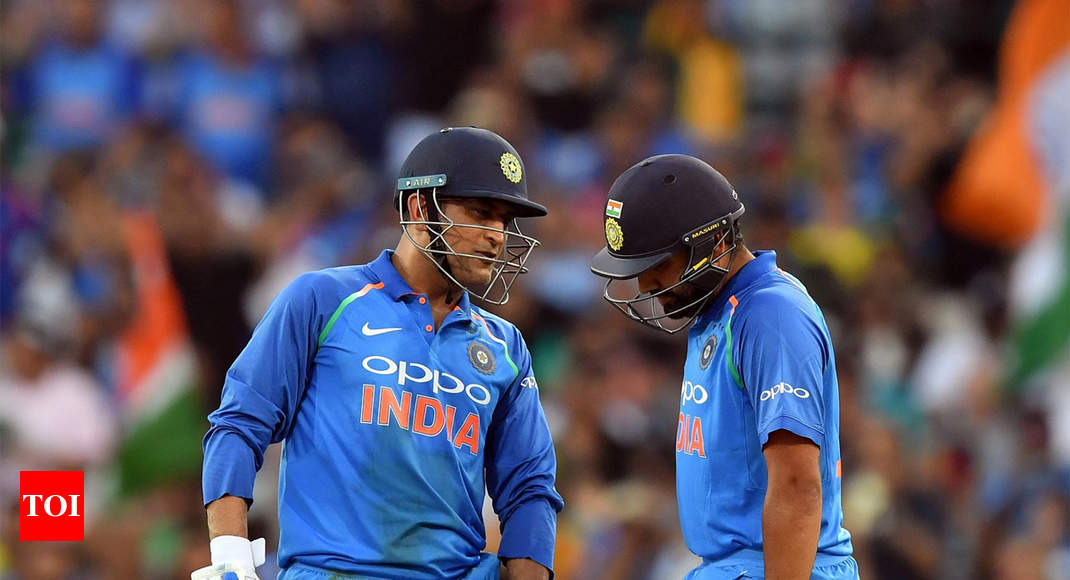 India vs Australia: Rohit Sharma says 'ideal' number four is MS Dhoni, differs with Virat Kohli - Times of India