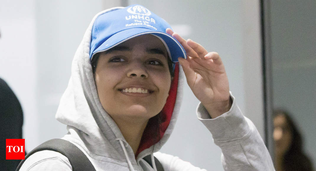 'Brave new Canadian:' Runaway Saudi woman arrives in country - Times of India