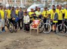A bicycle ride to celebrate Jijabai's birth anniversary