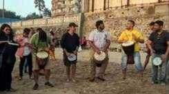 First drum circle of the year at Versova beach