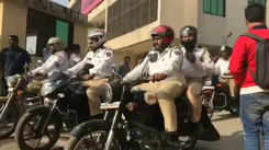 Navi Mumbai students participate in a bike rally to spread road safety awareness