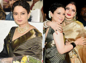 Rekha gifted this sari to Kangana