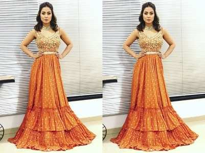 Hina Khan goes wrong with choice of attire