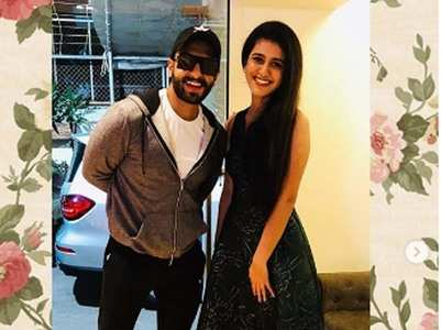 Pics: Priya Prakash's fan girl moment with Kat, Ranveer and Varun
