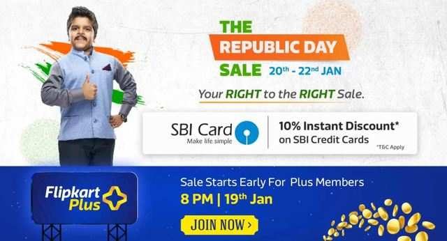 Flipkart Republic Day Sale starts January 20: Get discounts on mobiles, electronics and more