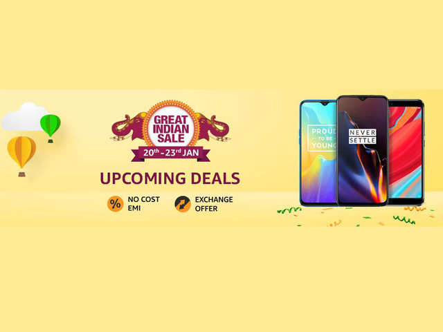 Amazon Great Indian Sale starts January 20: Discounts on OnePlus 6T, Xiaomi Redmi Y2, Realme U1 and other smartphones