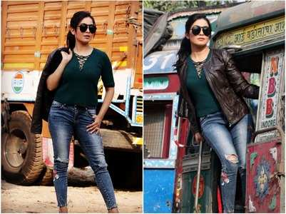 Shubhangi Atre learns to drive a truck