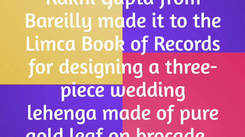 Bareilly girl makes a record in designing a lehenga